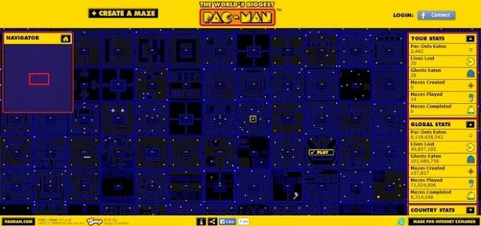 The World's Biggest PAC-MAN - Παίξε το μεγαλύτερο PAC-MAN του κόσμου