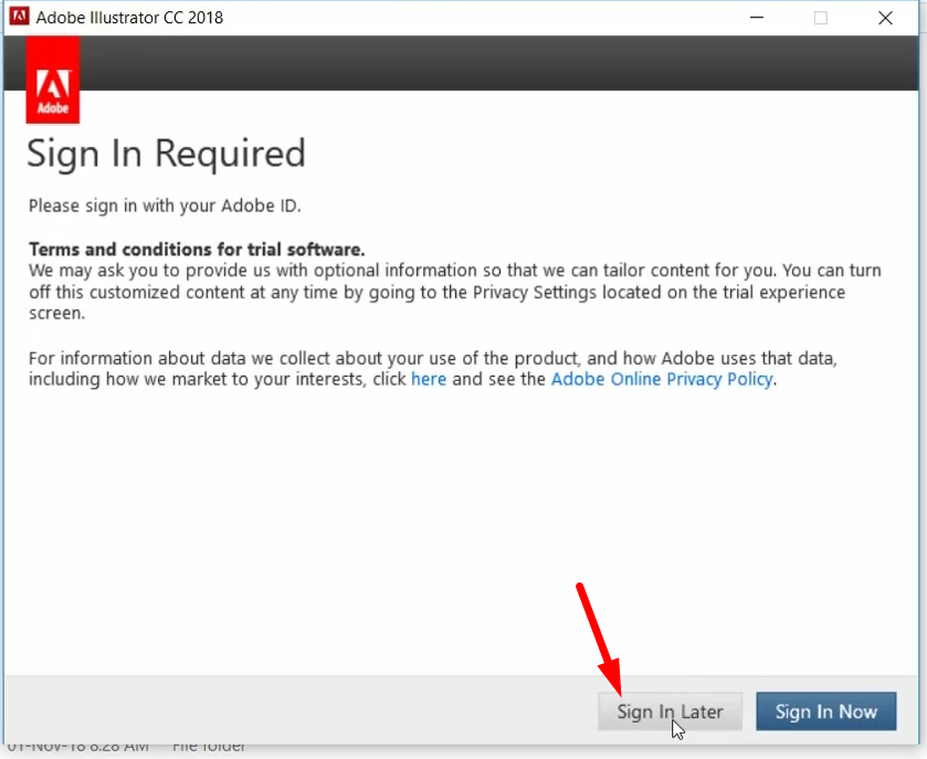 Adobe Trial Expired Reset