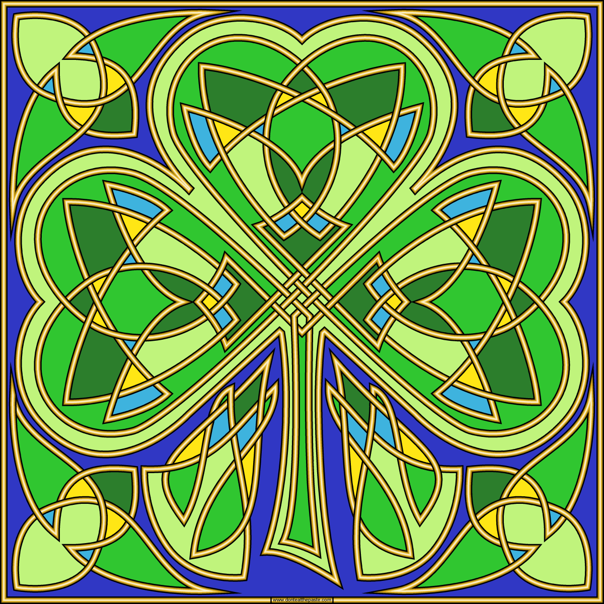 don u0027t eat the paste 2016 shamrock coloring page
