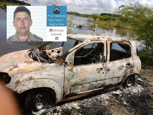 Veículo de policial militar assassinado é encontrado queimado em Boqueirão