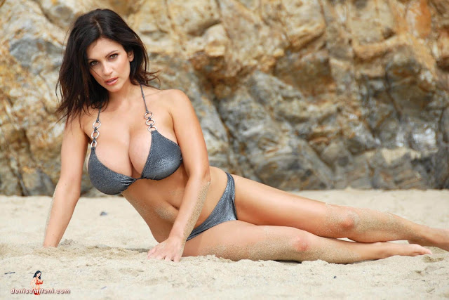Denise-Milani-Beach-Silver-bikini-hottest-photoshoot-pics-8