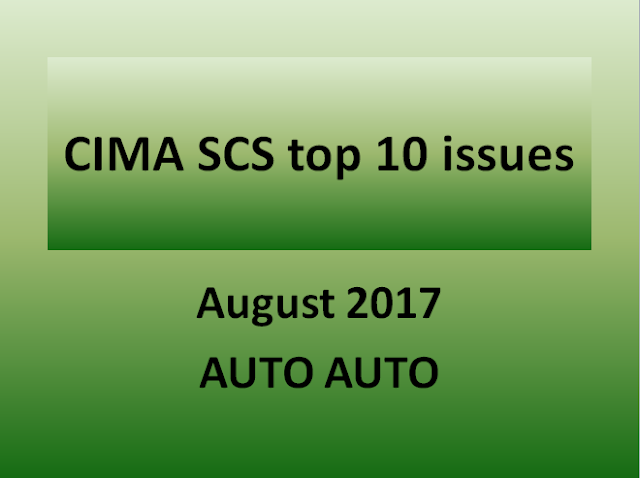 CIMA SCS August 2017 Key 20 issues video by Gajendra Liyanaarachchi