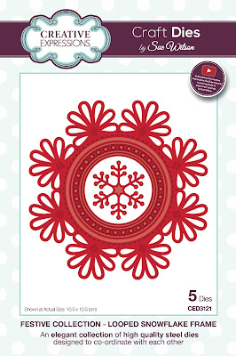 Festive Collection Looped Snowflake Frame Dies - CED3121