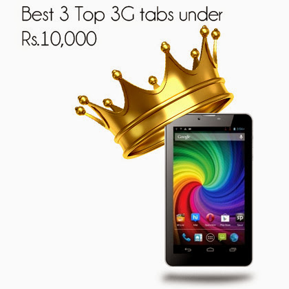 Best 3 top 3G tablets under Rs.10,000         -          Tech Charm