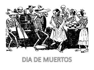 DIBUJO PARA COLOREAR DE DÍA DE MUERTOS