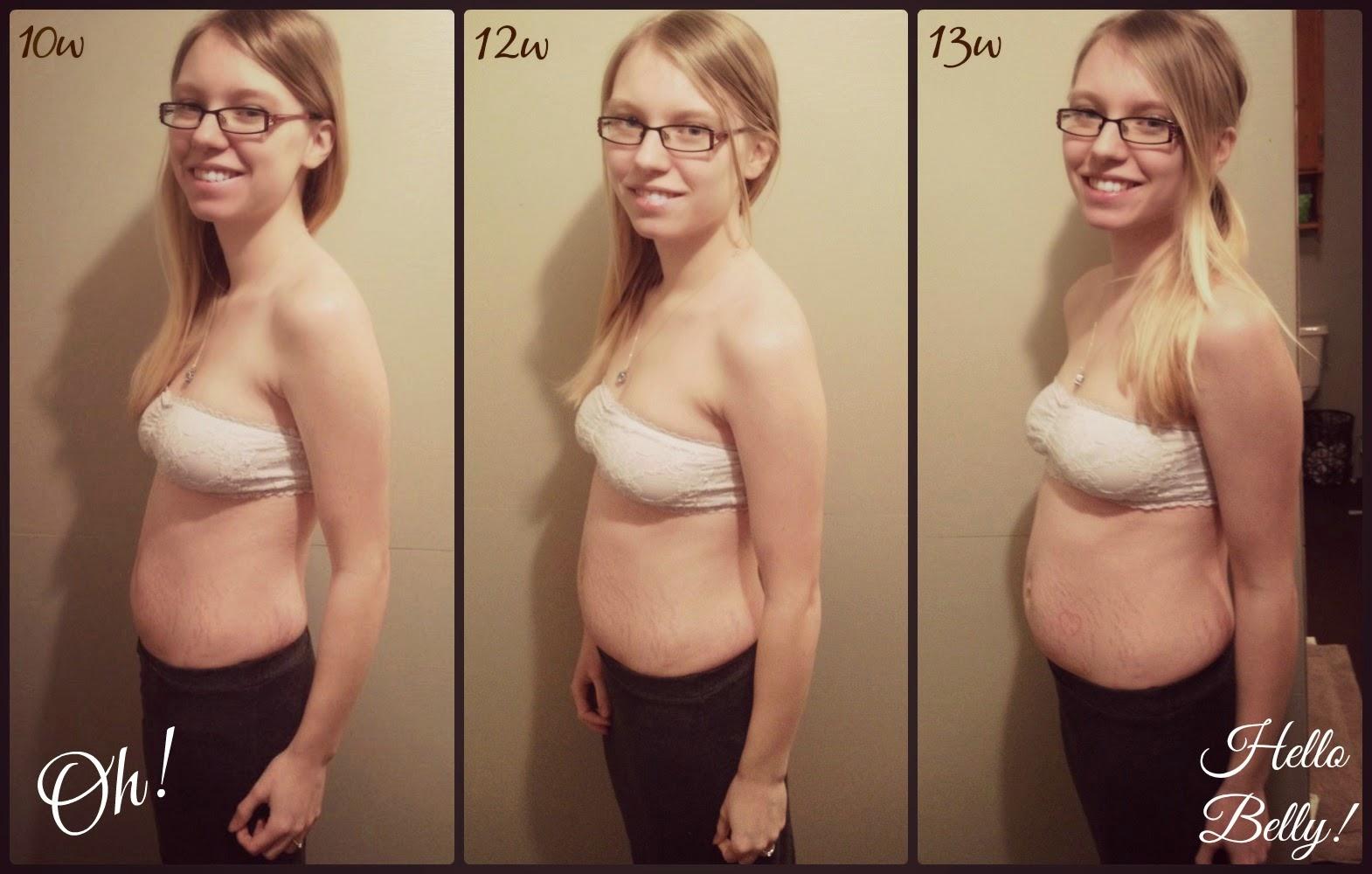 Last week, 13 weeks, my belly seemed to explode!!