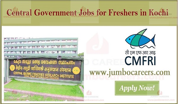 Recent freshers jobs in Kochi, Current Government jobs in Kochi,