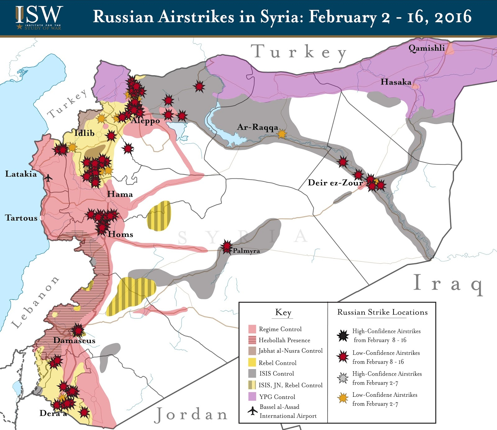 Russian airstrikes in Syria (2 - 16 February 2016)