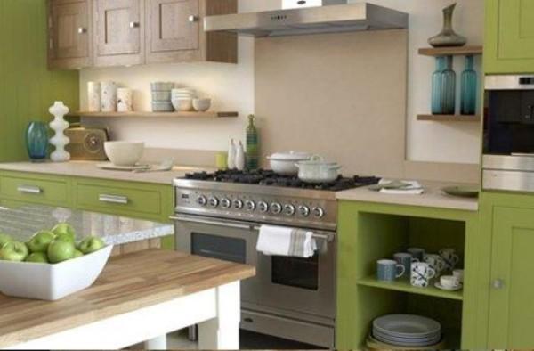 Warna cat elegan untuk dapur minimalis modern yang bagus