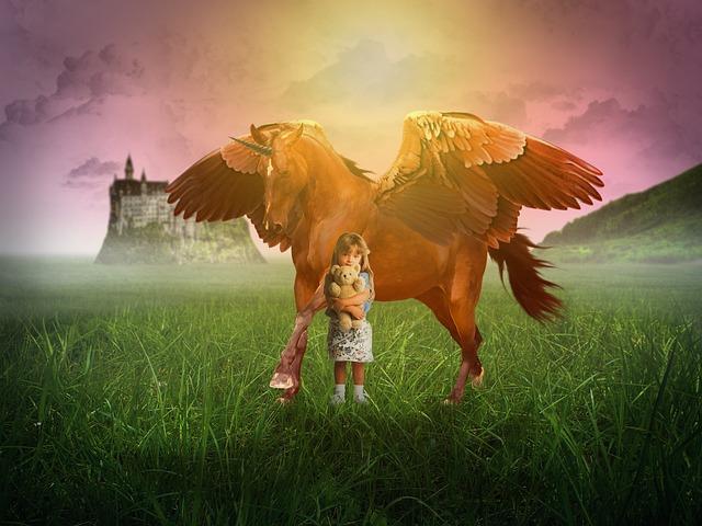 Kind mit Einhorn