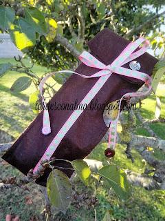 Accesorios de fieltro con patrones DIY costura craf bolsa handmade tutorial cinta decorativa