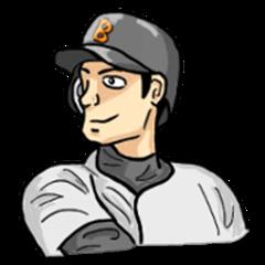 Sports Sticker for J (Baseball)
