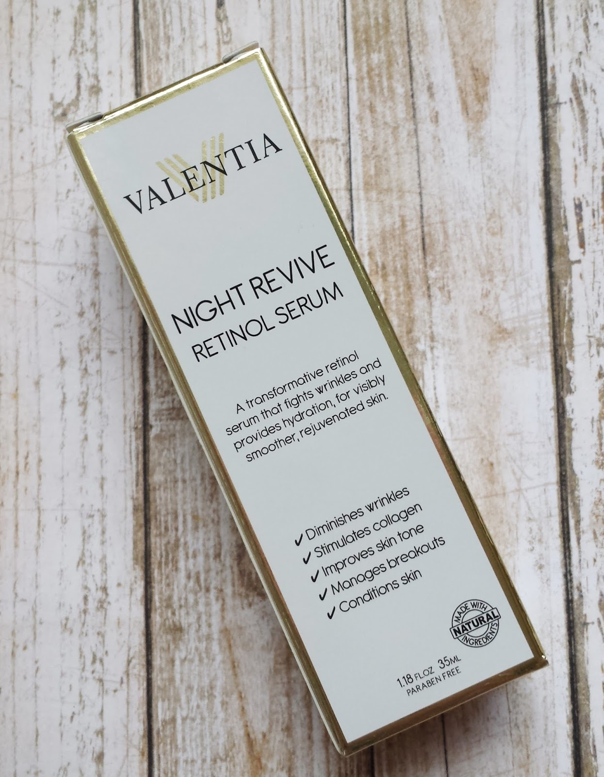 Valentia Night Revive Retinol Serum Review