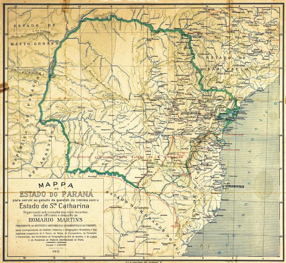 Mapa Histórico do Paraná