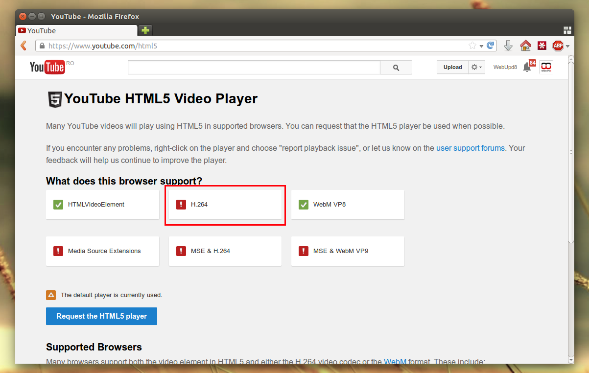 Get Firefox And Phonon-GStreamer To Support H 264 In Ubuntu 14 04
