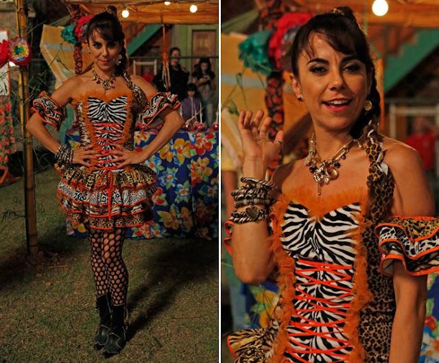 Rose Clair (Paula Cohen), figurino festa junina, I Love Paraisópolis