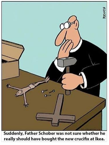 IKEA DIY crucifiction cartoon