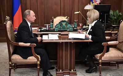 Vladimir Putin, Ella Pamfilova