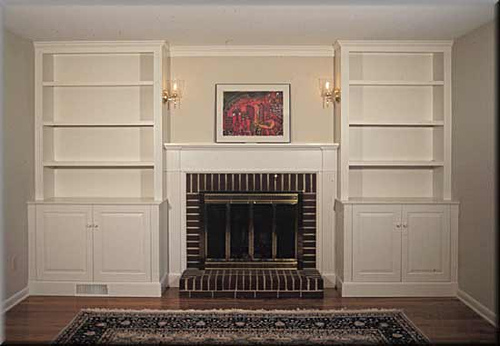 Built In Bookshelves Around Fireplace Built-in Bookshelves | Julia Ryan