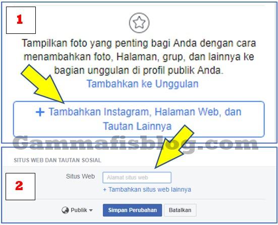 Cara Menambahkan Alamat Blog atau Website di Facebook