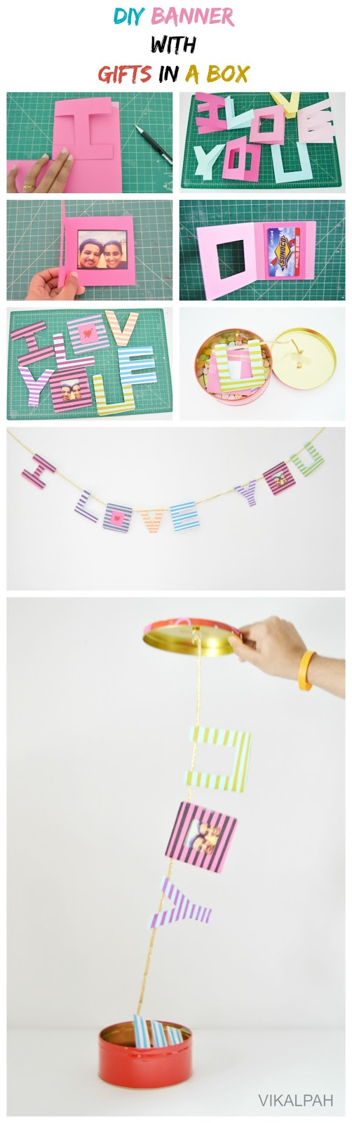 Easy DIY gift for Valentine's day, anniversary or birthdays