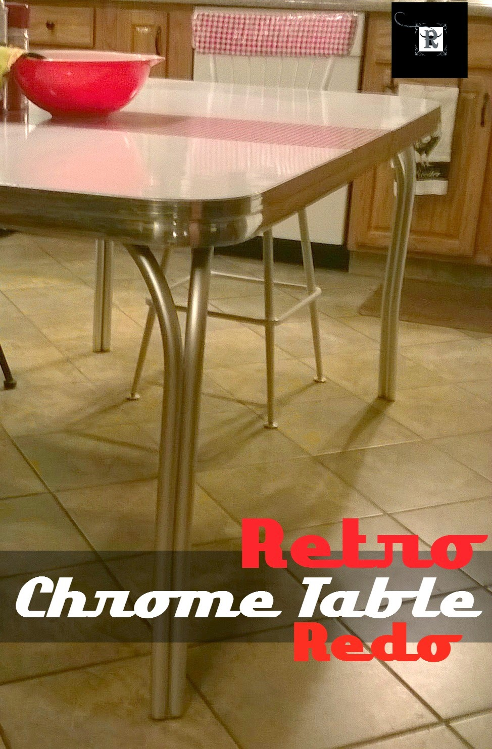 Redo It Yourself Inspirations Retro Chrome Table Redo