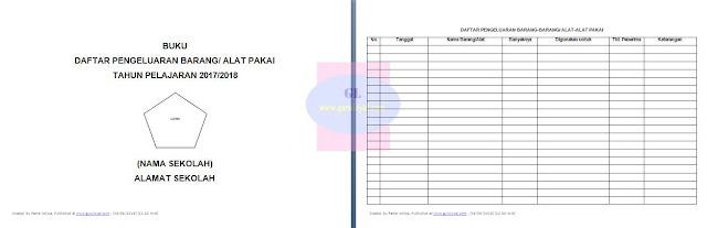 contoh format buku daftar pengeluaran barang atau alat pakai