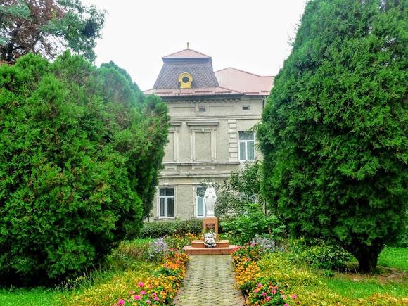 Сокаль. Скульптура Божией Матери возле гимназии и Малой академии нау