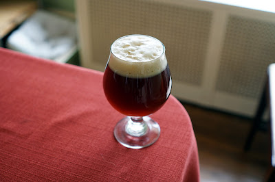Finished Pomegranate-Cardamom Dubbel!