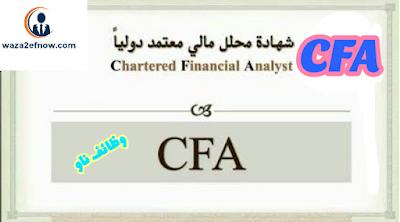 كيفية الحصول علي شهادة محلل مالي معتمد CFA خلال شهر | وظائف ناو