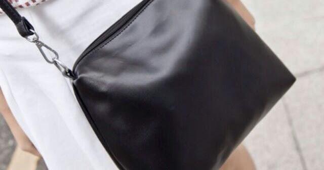 9826d1462603 Harajuku Tokyo Plain Black Sling Bag - Hipster Valley