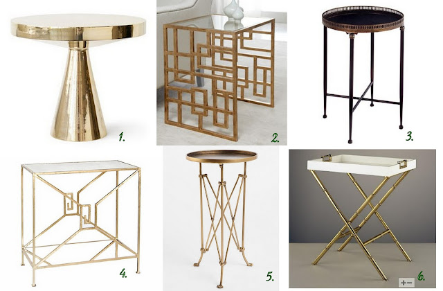 Gold & Brass Accent Tables