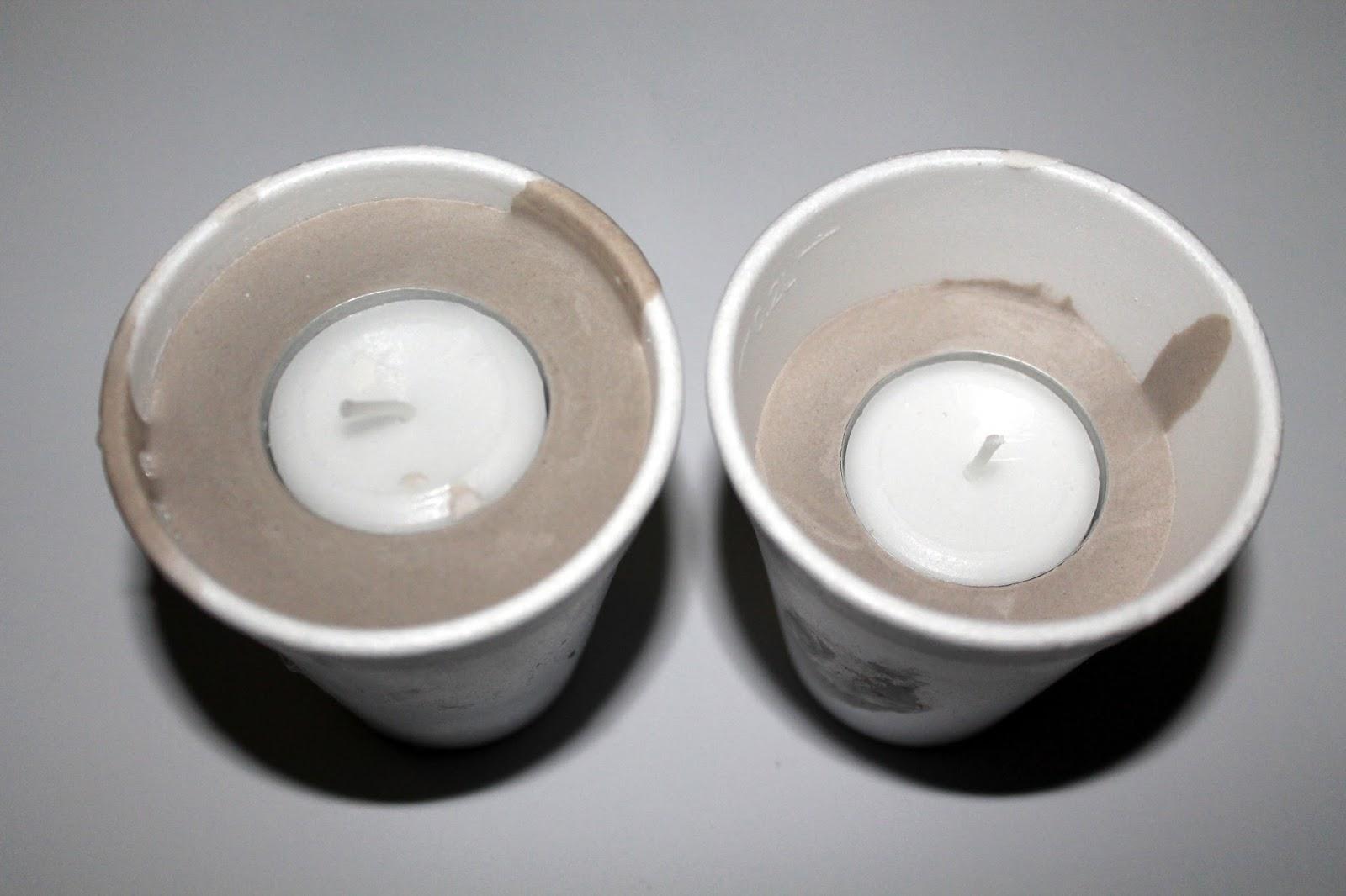 DIY, Basteln: Gips / Beton Teelichter Herz als Dekoration - DIYCarinchen