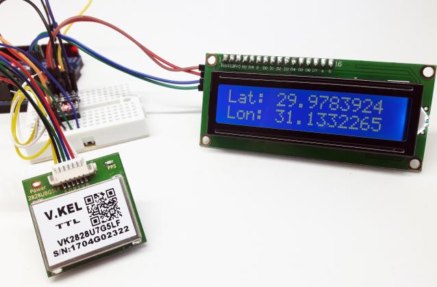 Módulo GPS VK2828U7G5LF e Arduino