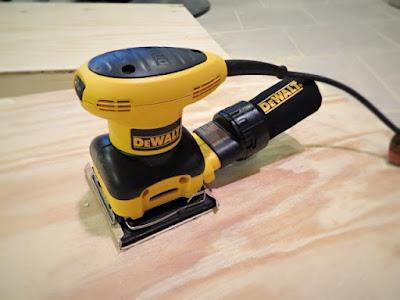 sanding dewalt plywood smooth
