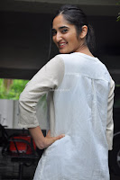 Radhika Cute Young New Actress in White Long Transparent Kurta ~  Exclusive Celebrities Galleries 010.JPG