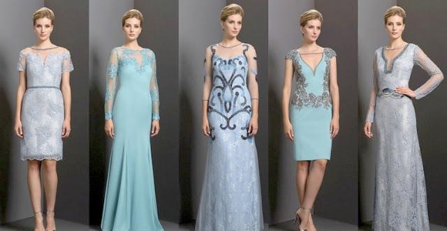 Платья модных цветов для встречи Нового года