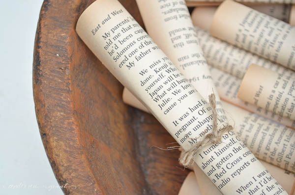 Vintage Paper Rolls. Easy vintage decor from Anderson & Grant