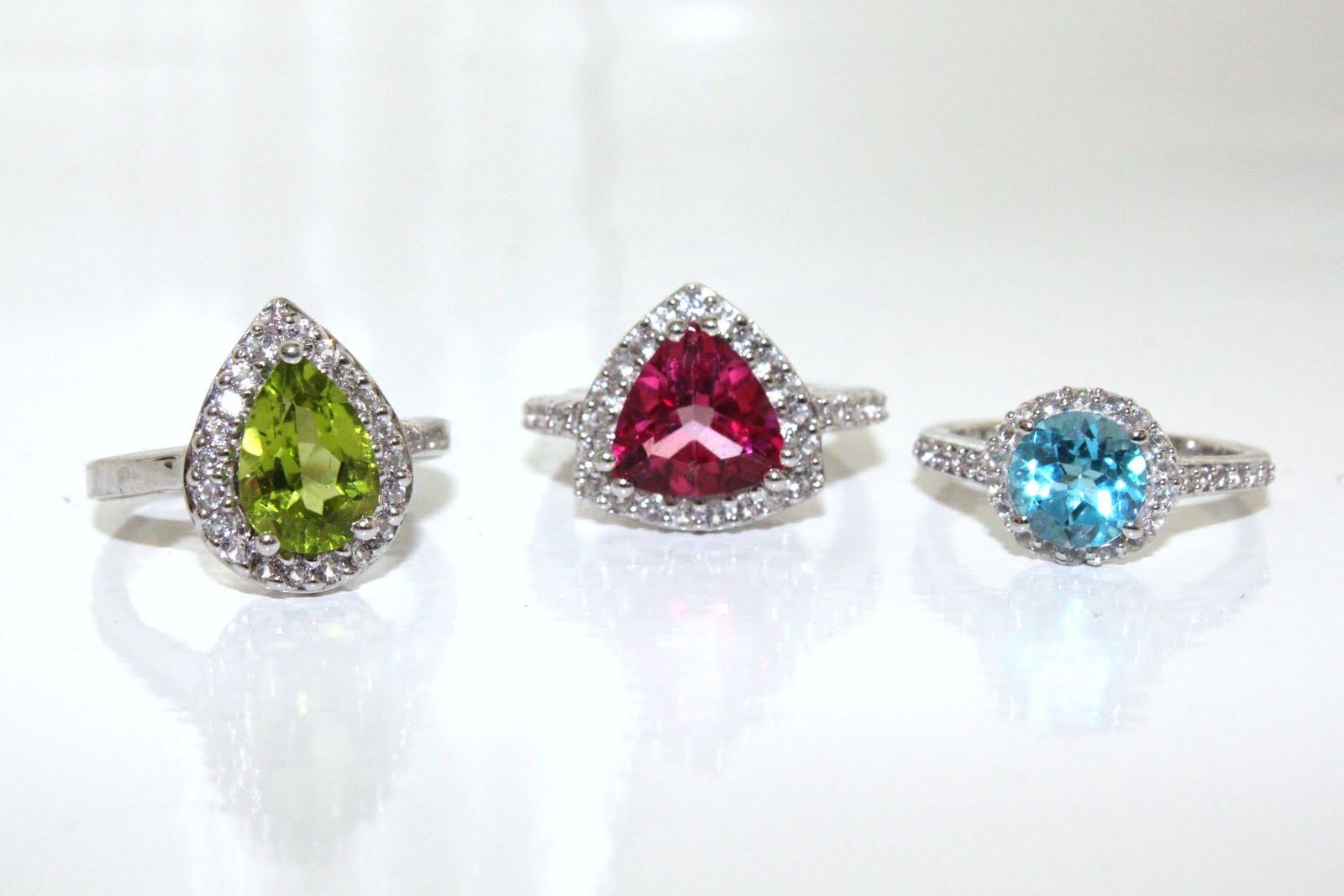 Gemporia gemstone jewellery jewelry changbai peridot mystic pink topaz white topaz swiss blue topaz sterling silver ring