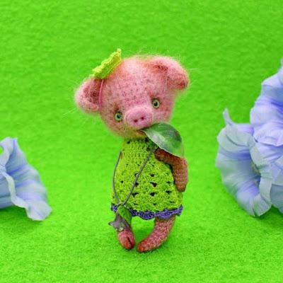 Амигуруми свинка крючком