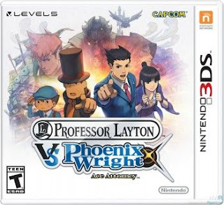 Professor Layton Vs. Phoenix Wright, 3DS, Español, Mega, Mediafire