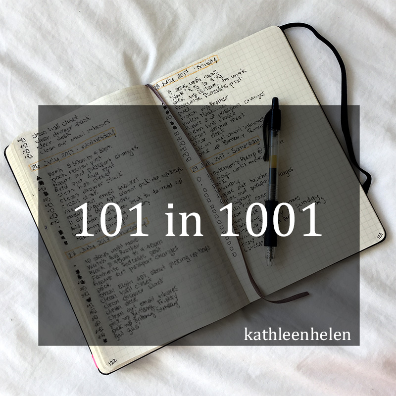 101 Things in 1001 Days November 2017 Update | kathleenhelen