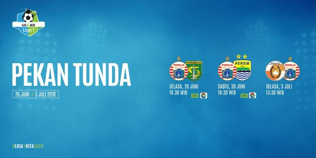 Jadwal Liga 1 2018 Pertandingan Tunda Persija Jakarta