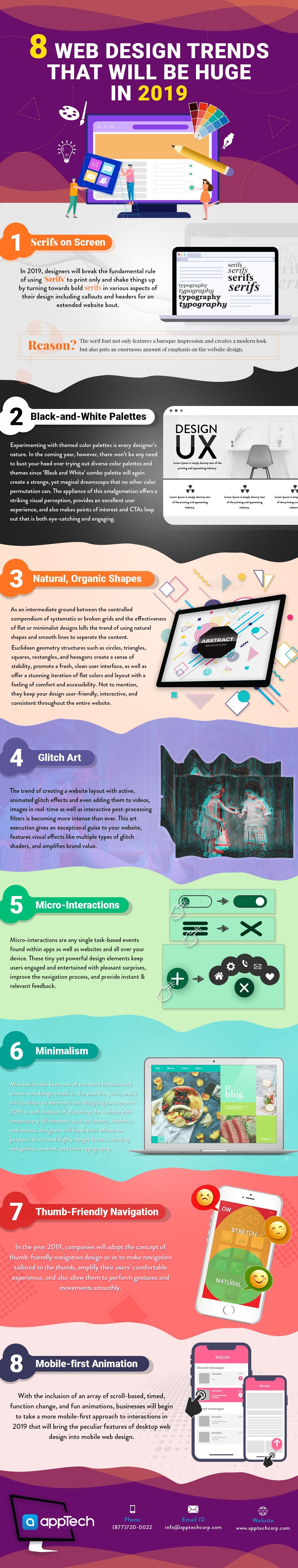 8 Trends Bound to Shape the Web Design Industry in 2019 #infographic