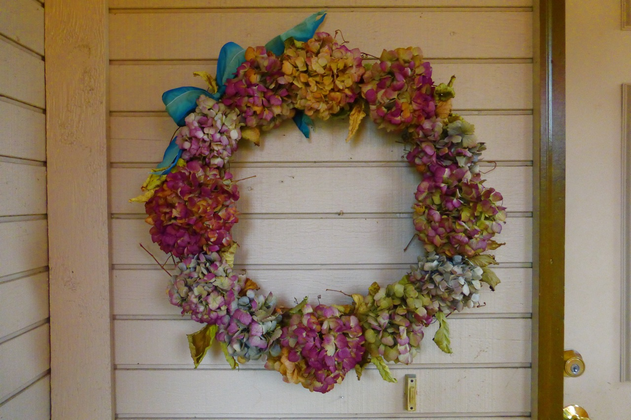 hydrangea wreath, Hydrangea wreath, how to make a hydrangea wreath, do it yourself hydrangea wreath