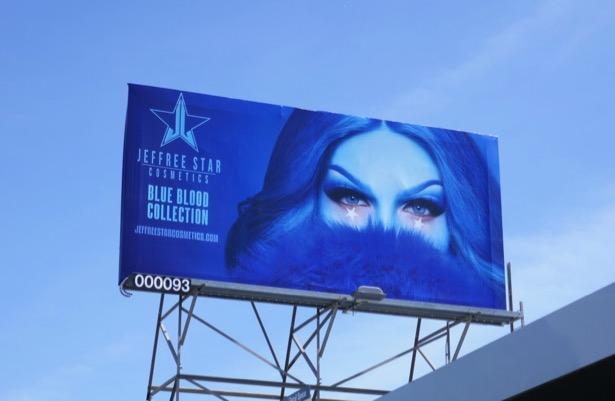 Jeffree Star Cosmetics Blue Blood Collection billboard
