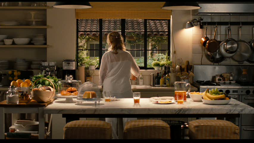 "Charming kitchen in ""It's Complicated"" with Meryl Streep and Alec Baldwin. Tuscan, French, and California influences help this quirky, open, cozy space sing! Come read Capturing Belgian Decor Simplicity: ""It's Complicated"" to get the look! #belgianstyle #interiordesign #getthelook #itscomplicated #simpledecor #sophisticateddecor"