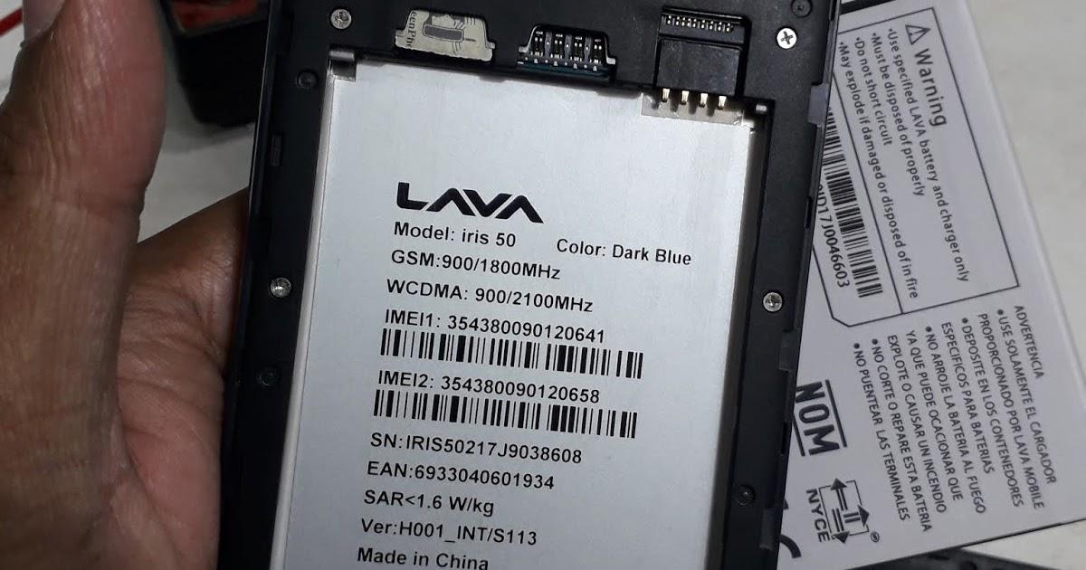 LAVA IRIS 50 H001_INT/S113 Dead Boot Recovery File Mr