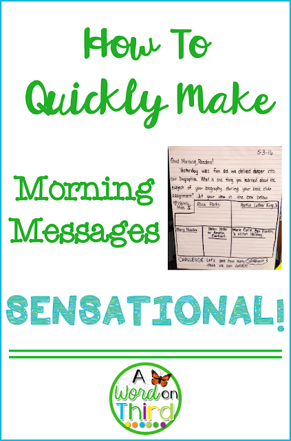 How To Quickly Make Morning Messages SENSATIONAL! with A Word On Third
