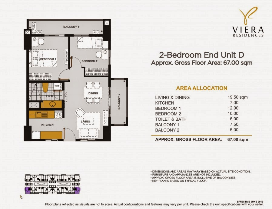 Viera Residences 2 Bedroom Inner Unit-D